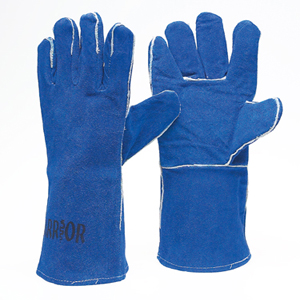 Warrior Catt 11 Welders Gauntlets Blue LeatherCE-EU CertifiedSold