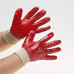 Warrior Red PVC Glove